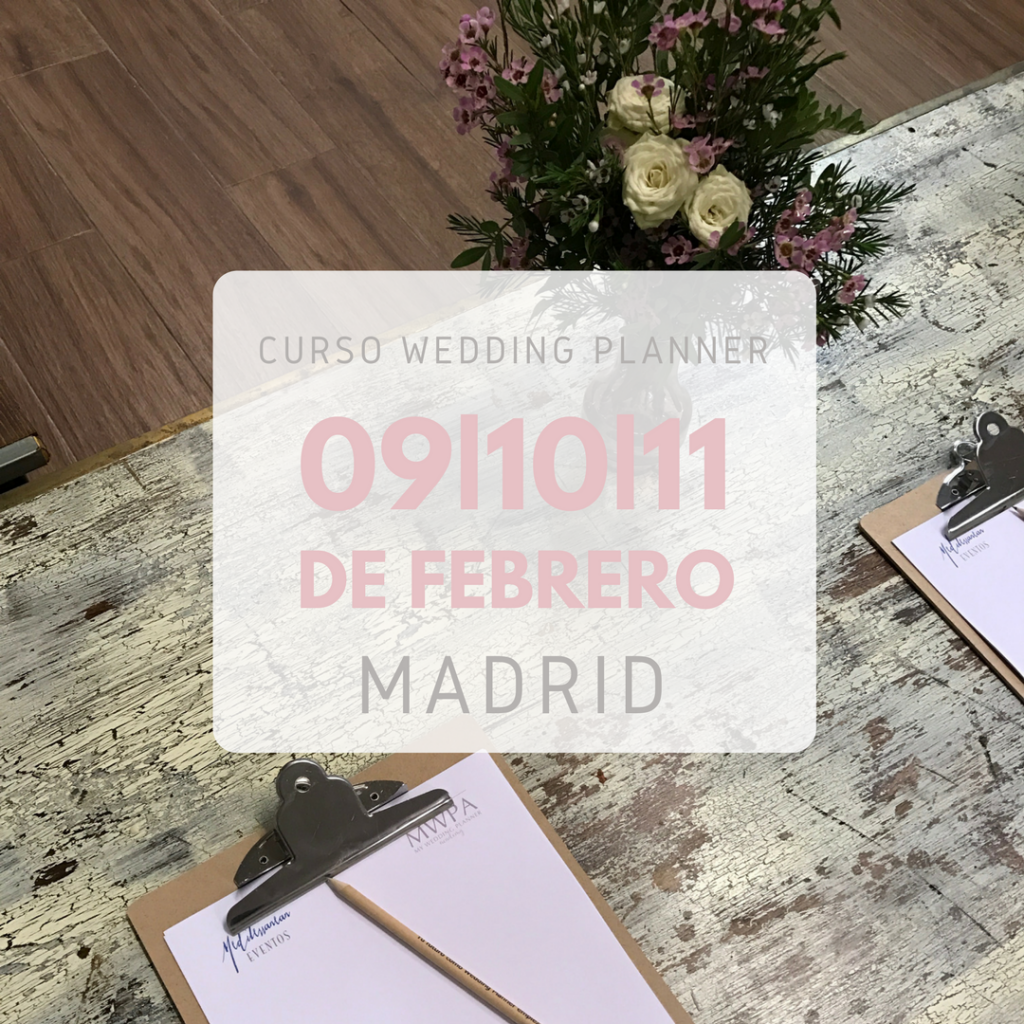 curso wedding planner Madrid