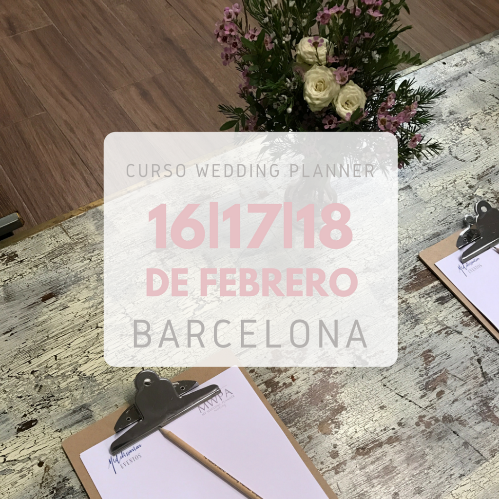 curso wedding planner Barcelona